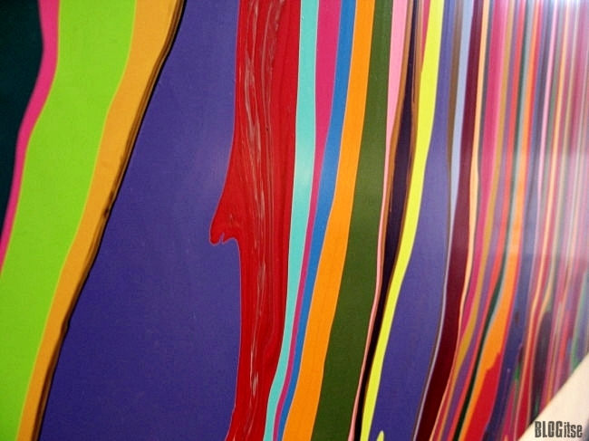 Puddle Painting magenta by Ian Davenport shot by BLOGitse in Kiasma 2010 detail  1.