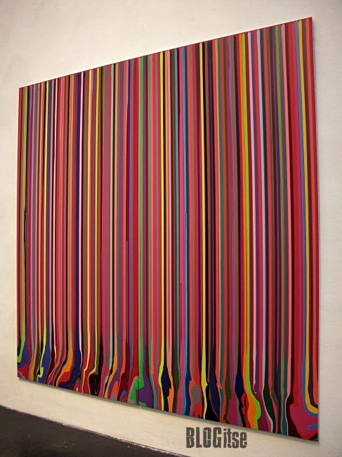 Puddle Painting magenta by Ian Davenport shot by BLOGitse in Kiasma 2010