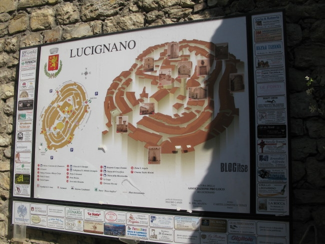 map of Lucignano, Italy by BLOGitse