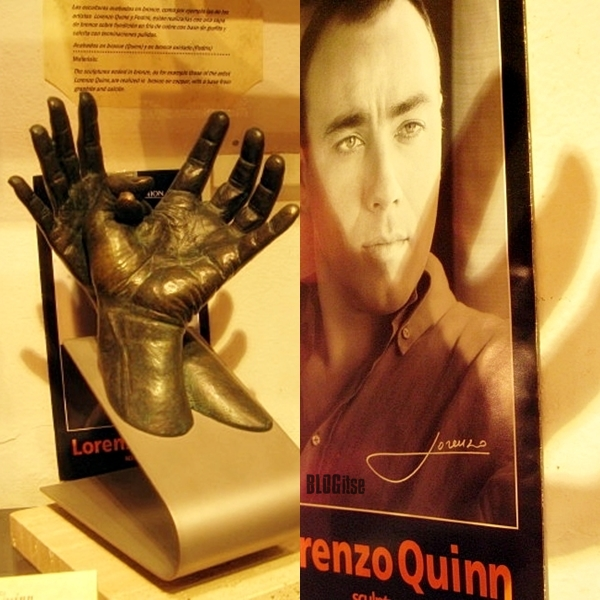sculptor Lorenzo Quinn by BLOGitse