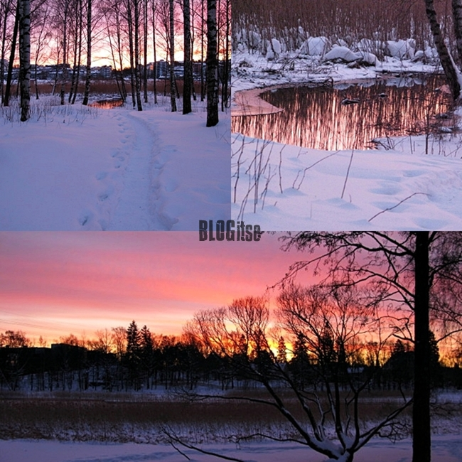 sunrise in Helsinki 28.1.2012 by BLOGitse