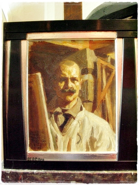 Akseli Gallen-Kallela Self-portrait for the Uffizi Gallery, Florence 1916 shot by BLOGitse
