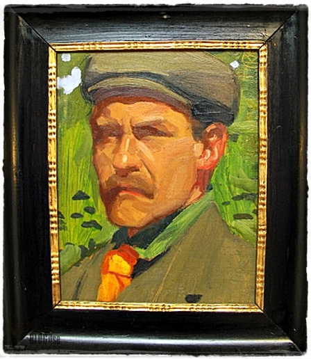 Akseli Gallen-Kallela Self-portrait on a Green Background 1908 shot by BLOGitse