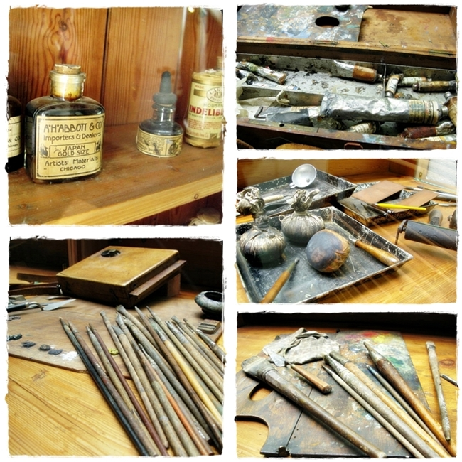 Akseli Gallen-Kallela's tools at his studio by BLOGitse