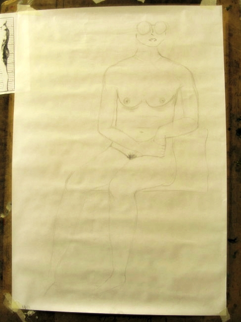 BLOGitse taking a life drawing course