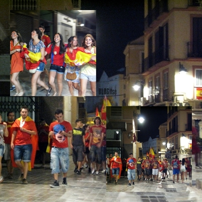 Spain, the winner of Euro 2012 and happy fans by BLOGitse