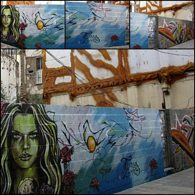 back alley art in Málaga shot by BLOGitse