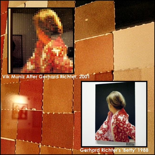 Richter's Betty and Vik Muniz After Gerhard Richter, 2001 shot by BLOGitse
