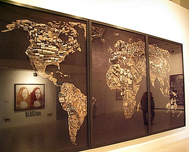 Vik Muniz WWW world map, 2008 by BLOGitse