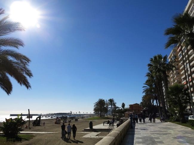 sunny Malaga beach 1.12.13 by BLOGitse