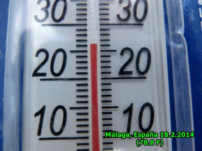 temperature in Malaga 18.2.14 at 3 pm by BLOGitse
