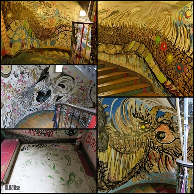 59Rivoli Paris France staircase paintings by BLOGitse