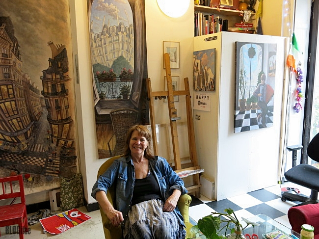 artist Linda McCluskey in 59Rivoli Paris France by BLOGitse