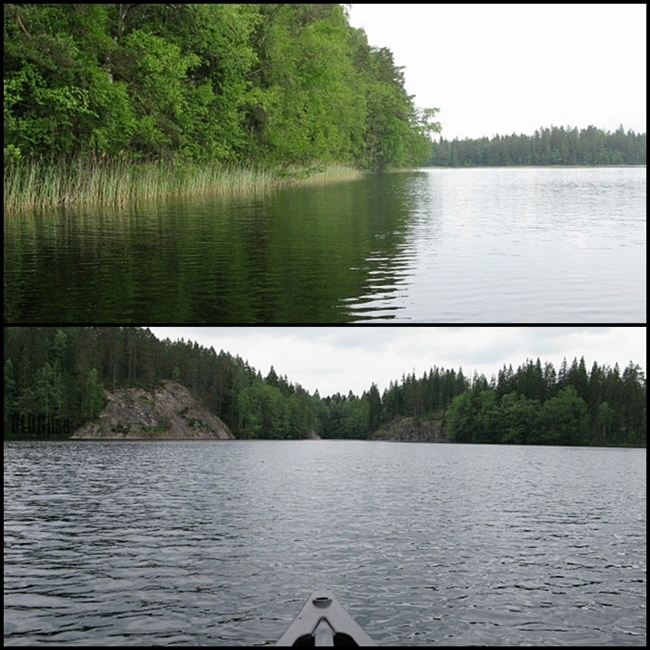 canoeing in Nuuksio by BLOGitse