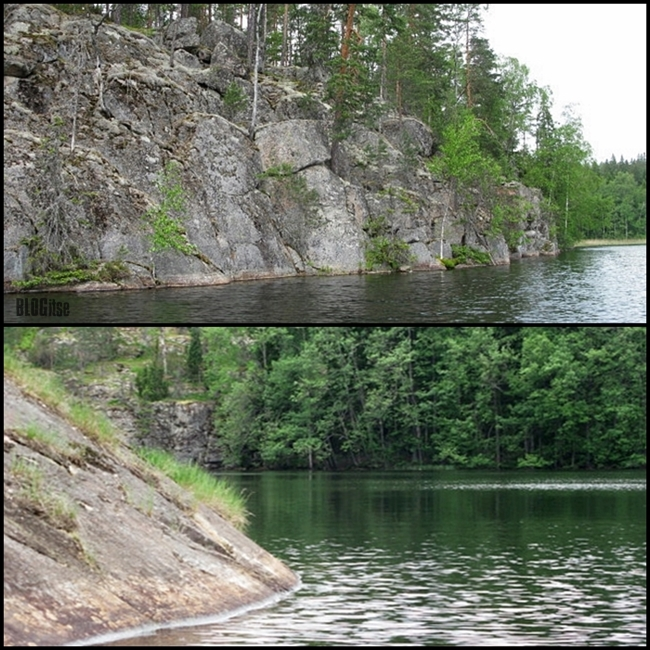 granite rocks in Nuuksio Finland by BLOGitse