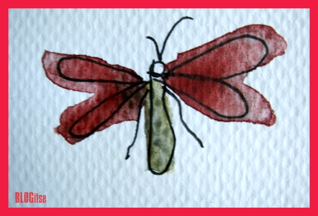 a bug with red wings by BLOGitse