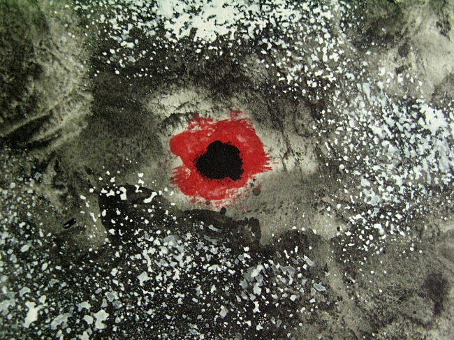 detail of an eye or what watercolor painting by BLOGitse