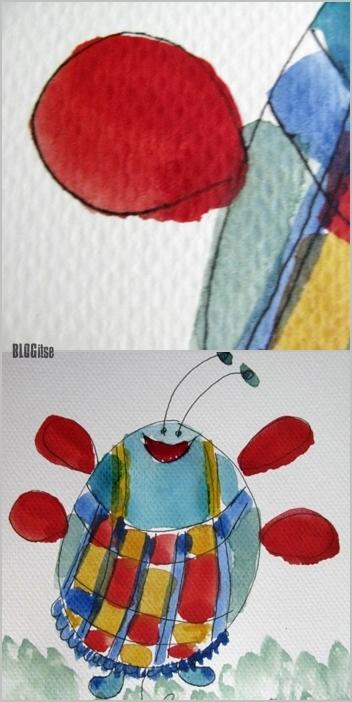 hittiäinen, red wing detail,  by BLOGitse