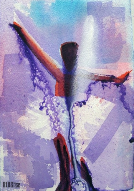 dancer watercolor painting by BLOGitse