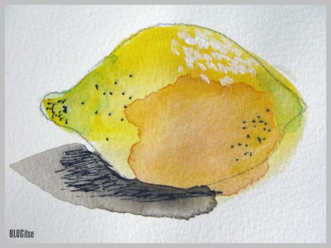 watercolor lemon by BLOGitse