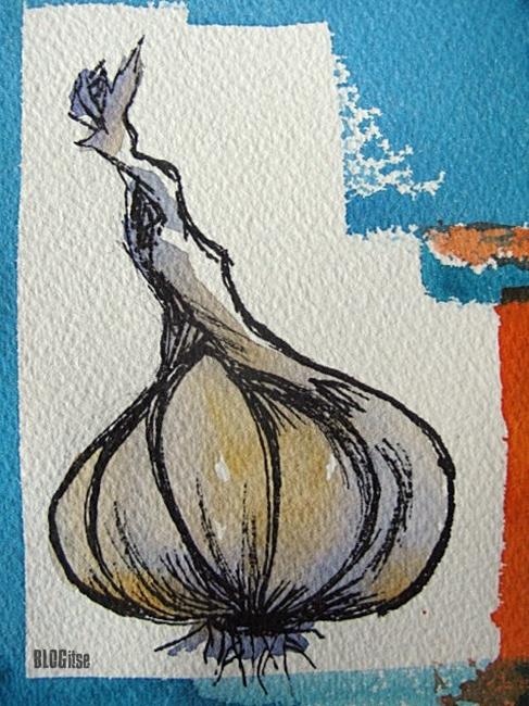 garlic, close-up by BLOGitse