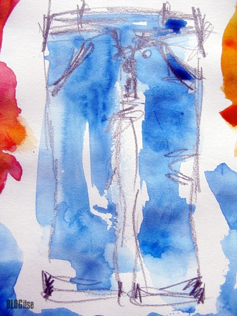 sketching, jeans, watercolor by BLOGitse