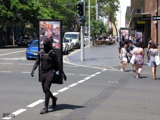 walking ad in Sydney 19.2.2015