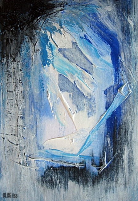 blue abstract acrylic by BLOGitse