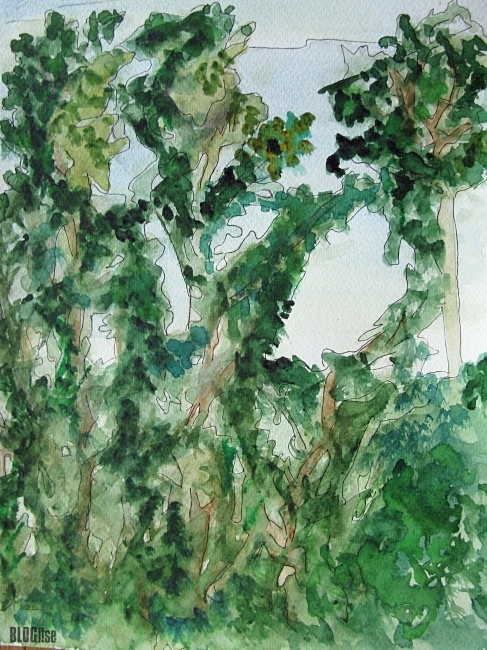 watercolor trees by BLOGitse