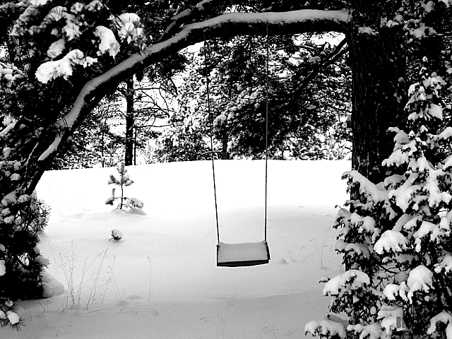 snowy swing waiting for summer by BLOGitse