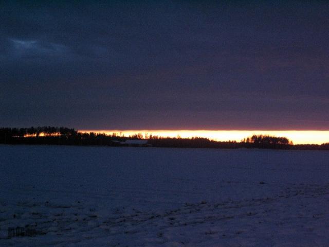 sunset near Urjala, Finland 13.2.2016 by BLOGitse
