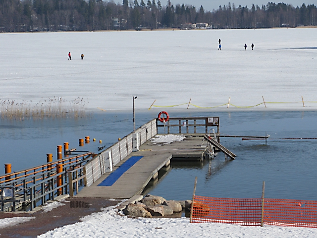 swim in or ski on the lake by BLOGitse
