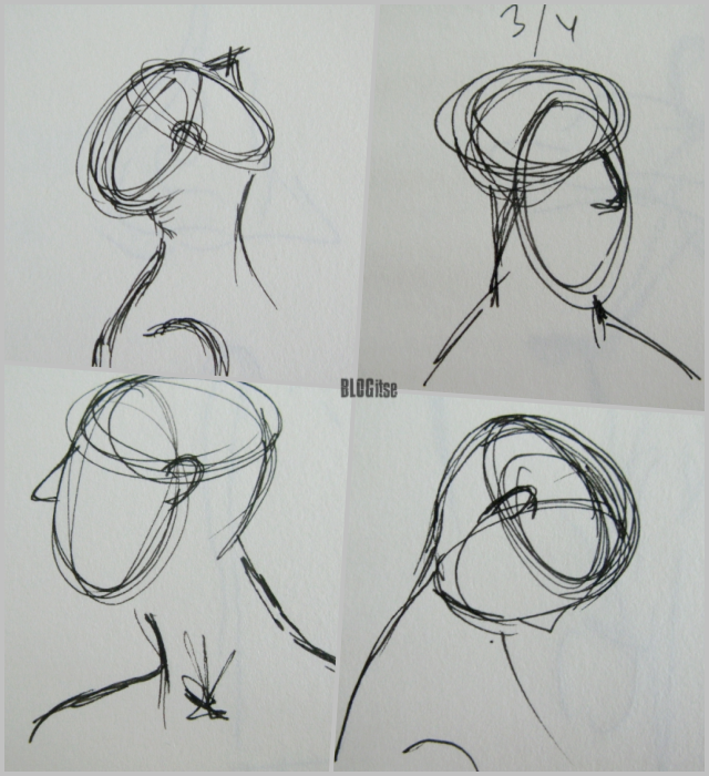 fountain pen sketches heads by BLOGitse