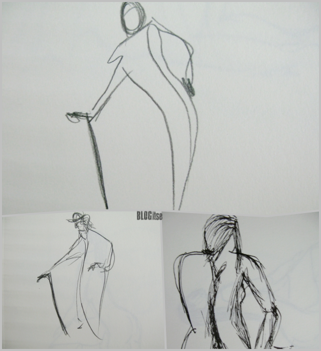 fountain pen sketches postures by BLOGitse