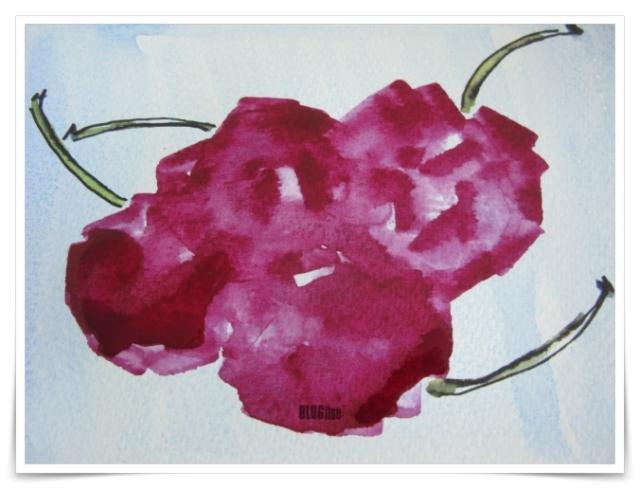 watercolor cherries by BLOGitse