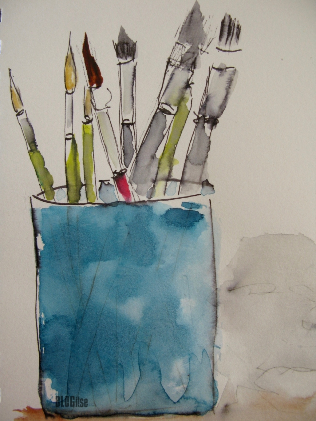 painting brushes by BLOGitse
