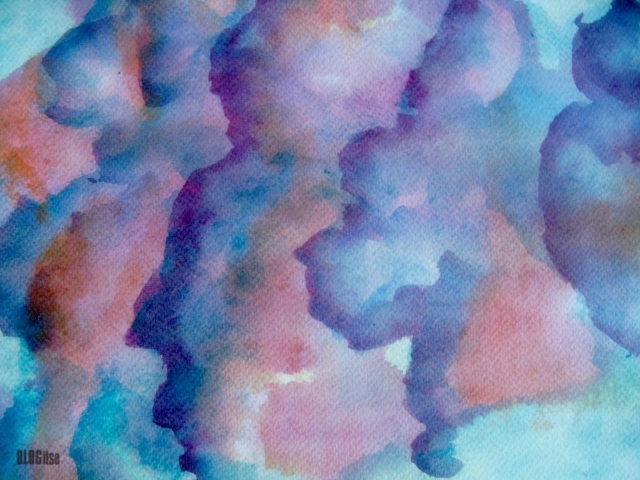 August clouds watercolour by BLOGitse