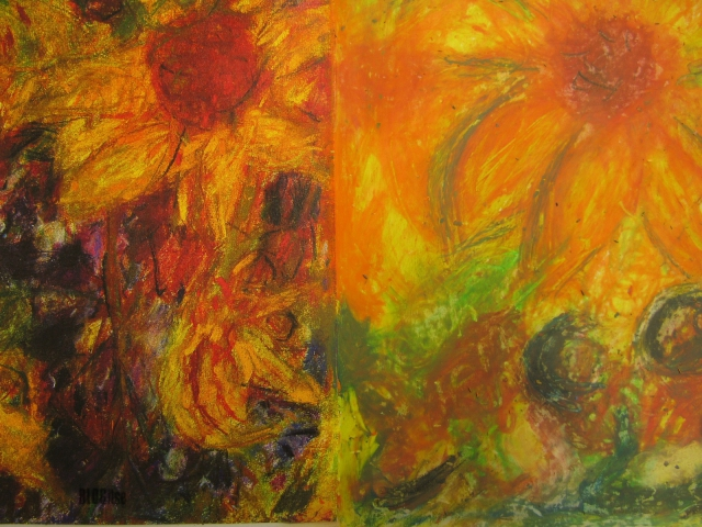 oil-pastel-sunflowers-by-blogitse