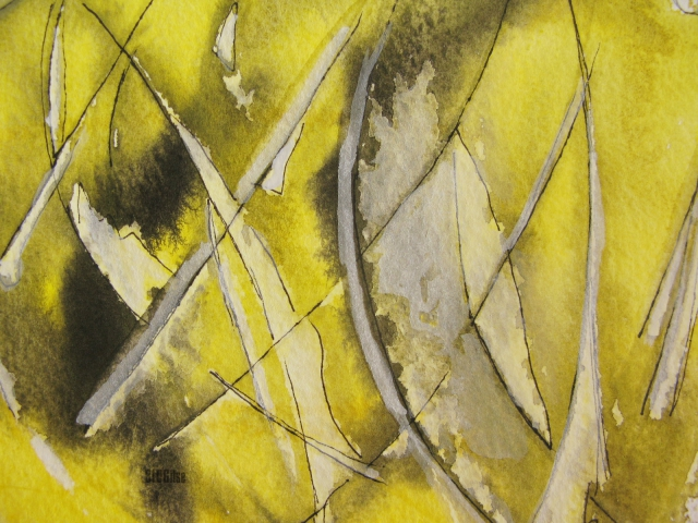 detail of lemon yellow, watercolor by BLOGitse