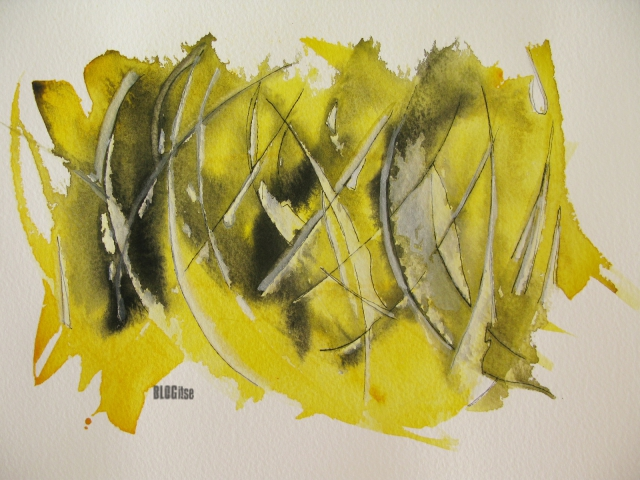 lemon yellow, watercolor by BLOGitse